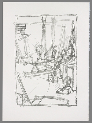 Fondation Giacometti -  [Corner of the studio with the Cat]