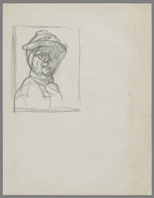 Fondation Giacometti -  [After Chardin: Self-Portrait]