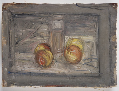 Fondation Giacometti -  [Four apples and a glass]
