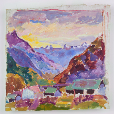 Fondation Giacometti -  [Mountain landscape at Maloja]