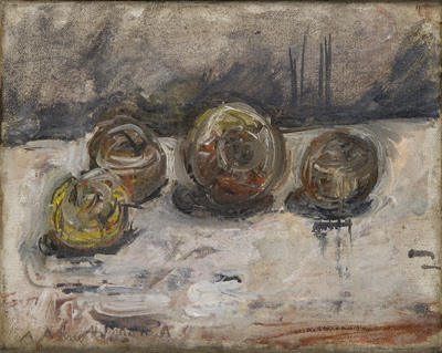 Fondation Giacometti -  [Four Apples on a Table]