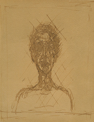 Fondation Giacometti -  [Head of Woman] recto / [Bust of Man, erased] verso