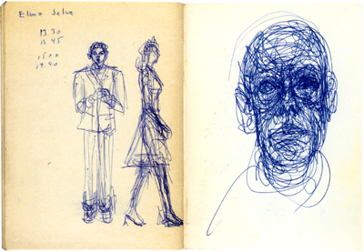 Fondation Giacometti -  [Drawings on the book Adieu la Passerose de Léna Leclercq, Paris : éditions Stock 1962]