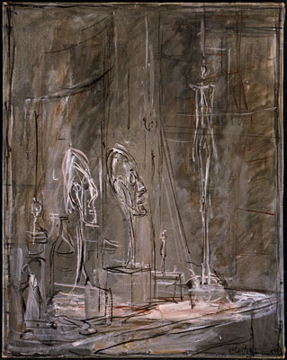 Fondation Giacometti -  [Sculptures in the studio]
