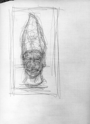 Fondation Giacometti -  [After an egyptian sculpture: head of Amenemhet III]