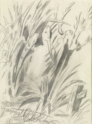 Fondation Giacometti -  [Bird in the bushes (recto) / [Military manoeuvres] (verso)