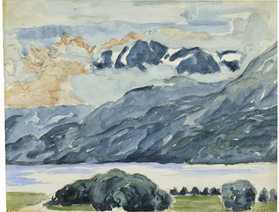 Fondation Giacometti -  [Mountains and the lake of Sils]