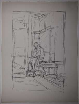 Fondation Giacometti -  [The mother on the bench in Stampa]