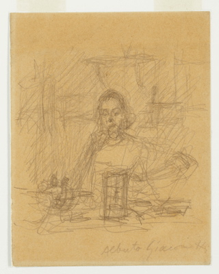Fondation Giacometti -  [Annette at the Table at Stampa]