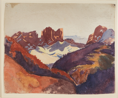 Fondation Giacometti -  Landscape with Mountains (Drusen and Sulzfluh)