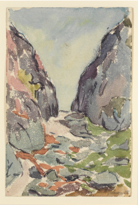 Fondation Giacometti -  Gorge and River