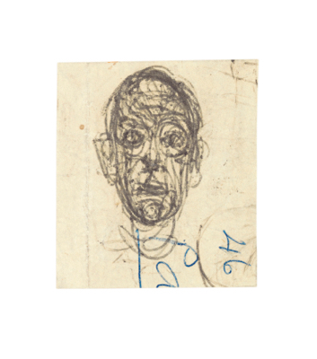 Fondation Giacometti -  Head and Inscriptions